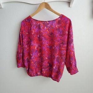 Joie silk floral dolman sleeve top S